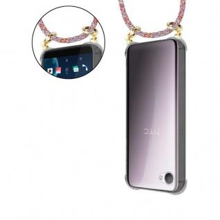 Cadorabo Handy Kette für HTC Desire 12 in COLORFUL PARROT - Silikon Necklace Umhänge Hülle mit Gold Ringen, Kordel Band Schnur und abnehmbarem Etui ? Schutzhülle - Vorschau 5