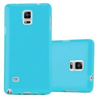 Cadorabo Hülle für Samsung Galaxy NOTE 4 in JELLY HELL BLAU - Handyhülle aus flexiblem TPU Silikon - Silikonhülle Schutzhülle Ultra Slim Soft Back Cover Case Bumper