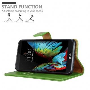 Cadorabo Hülle für LG K10 2016 in GRAS GRÜN ? Handyhülle mit Magnetverschluss, Standfunktion und Kartenfach ? Case Cover Schutzhülle Etui Tasche Book Klapp Style - Vorschau 4