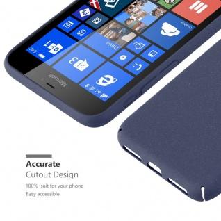 Cadorabo Hülle für Nokia Lumia 640 XL in FROSTY BLAU - Hardcase Handyhülle aus Plastik gegen Kratzer und Stöße - Schutzhülle Bumper Ultra Slim Back Case Hard Cover - Vorschau 3