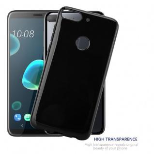 Cadorabo Hülle für HTC Desire 12 PLUS in SCHWARZ - Handyhülle aus flexiblem TPU Silikon - Silikonhülle Schutzhülle Ultra Slim Soft Back Cover Case Bumper - Vorschau 5