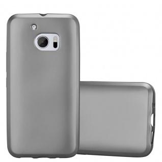 Cadorabo Hülle für HTC 10 (One M10) in METALLIC GRAU - Handyhülle aus flexiblem TPU Silikon - Silikonhülle Schutzhülle Ultra Slim Soft Back Cover Case Bumper