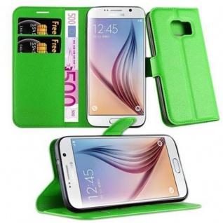 Cadorabo Hülle für Samsung Galaxy S7 in MINZ GRÜN - Handyhülle mit Magnetverschluss, Standfunktion und Kartenfach - Case Cover Schutzhülle Etui Tasche Book Klapp Style