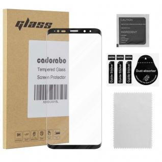 Cadorabo Vollbild Panzer Folie für Samsung Galaxy S9 PLUS - Schutzfolie in TRANSPARENT mit SCHWARZ - Gehärtetes (Tempered) Display-Schutzglas in 9H Härte mit 3D Touch Kompatibilität