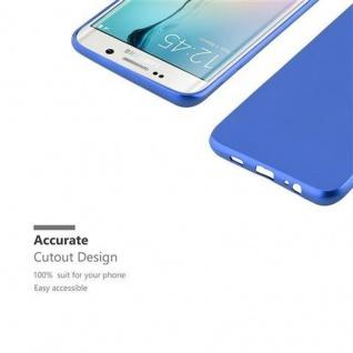 Cadorabo Hülle für Samsung Galaxy S6 EDGE in METALLIC BLAU - Handyhülle aus flexiblem TPU Silikon - Silikonhülle Schutzhülle Ultra Slim Soft Back Cover Case Bumper - Vorschau 2