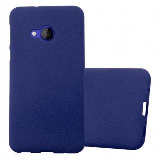 Cadorabo Hülle für HTC U PLAY in FROST DUNKEL BLAU Handyhülle aus flexiblem TPU Silikon Silikonhülle Schutzhülle Ultra Slim Soft Back Cover Case Bumper