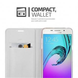 Cadorabo Hülle für Samsung Galaxy A5 2016 in CLASSY SILBER - Handyhülle mit Magnetverschluss, Standfunktion und Kartenfach - Case Cover Schutzhülle Etui Tasche Book Klapp Style - Vorschau 3