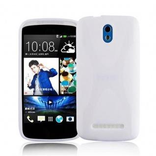 Cadorabo Hülle für HTC Desire 500 in HALB TRANSPARENT ? Handyhülle aus flexiblem TPU Silikon ? Silikonhülle Schutzhülle Ultra Slim Soft Back Cover Case Bumper