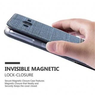 Cadorabo Hülle für Samsung Galaxy J3 2016 in DUNKEL BLAU SCHWARZ - Handyhülle mit Magnetverschluss, Standfunktion und Kartenfach - Case Cover Schutzhülle Etui Tasche Book Klapp Style - Vorschau 5