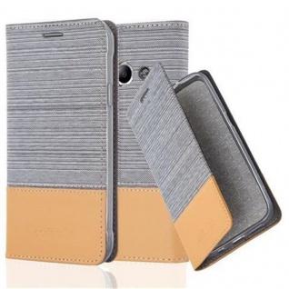 Cadorabo Hülle für Samsung Galaxy Xcover 3 in HELL GRAU BRAUN - Handyhülle mit Magnetverschluss, Standfunktion und Kartenfach - Case Cover Schutzhülle Etui Tasche Book Klapp Style