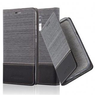 Cadorabo Hülle für Honor 5C in GRAU SCHWARZ - Handyhülle mit Magnetverschluss, Standfunktion und Kartenfach - Case Cover Schutzhülle Etui Tasche Book Klapp Style