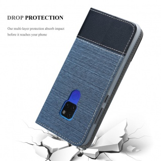 Cadorabo Hülle für Huawei MATE 20 in DUNKEL BLAU SCHWARZ - Handyhülle mit Magnetverschluss, Standfunktion und Kartenfach - Case Cover Schutzhülle Etui Tasche Book Klapp Style - Vorschau 5