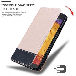 Cadorabo Hülle für Samsung Galaxy NOTE 3 NEO in ROSÉ GOLD SCHWARZ ? Handyhülle mit Magnetverschluss, Standfunktion und Kartenfach ? Case Cover Schutzhülle Etui Tasche Book Klapp Style - Vorschau 3