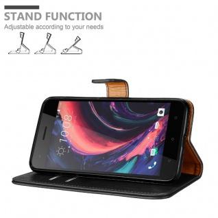 Cadorabo Hülle für HTC Desire 10 PRO in GRAPHIT SCHWARZ - Handyhülle mit Magnetverschluss, Standfunktion und Kartenfach - Case Cover Schutzhülle Etui Tasche Book Klapp Style - Vorschau 4