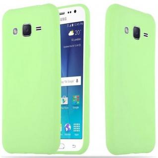 Cadorabo Hülle für Samsung Galaxy J2 2015 in CANDY PASTELL GRÜN - Handyhülle aus flexiblem TPU Silikon - Silikonhülle Schutzhülle Ultra Slim Soft Back Cover Case Bumper
