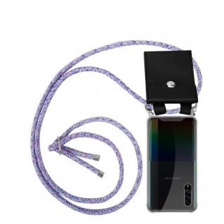 Cadorabo Handy Kette für Samsung Galaxy A90 5G in UNICORN Silikon Necklace Umhänge Hülle mit Silber Ringen, Kordel Band Schnur und abnehmbarem Etui Schutzhülle