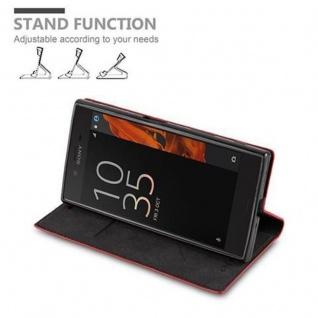 Cadorabo Hülle für Sony Xperia X Compact in APFEL ROT Handyhülle mit Magnetverschluss, Standfunktion und Kartenfach Case Cover Schutzhülle Etui Tasche Book Klapp Style - Vorschau 4