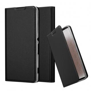 Cadorabo Hülle für Sony Xperia XA in CLASSY SCHWARZ - Handyhülle mit Magnetverschluss, Standfunktion und Kartenfach - Case Cover Schutzhülle Etui Tasche Book Klapp Style