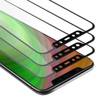 Cadorabo 3x Vollbild Panzer Folie für Xiaomi Pocophone F1 - Schutzfolie in TRANSPARENT mit SCHWARZ - 3er Pack Gehärtetes (Tempered) Display-Schutzglas in 9H Härte mit 3D Touch