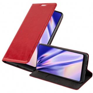 Cadorabo Hülle für Xiaomi Mi MIX 2S in APFEL ROT - Handyhülle mit Magnetverschluss, Standfunktion und Kartenfach - Case Cover Schutzhülle Etui Tasche Book Klapp Style