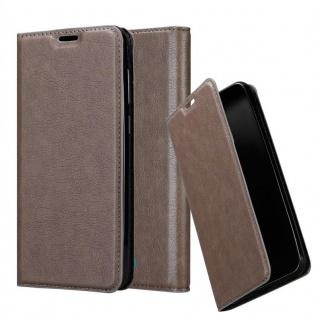 Cadorabo Hülle für WIKO VIEW 2 GO in KAFFEE BRAUN Handyhülle mit Magnetverschluss, Standfunktion und Kartenfach Case Cover Schutzhülle Etui Tasche Book Klapp Style
