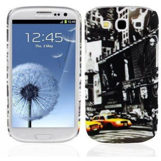Cadorabo - Hard Cover für Samsung Galaxy S3 / S3 NEO - Case Cover Schutzhülle Bumper im Design: NEW YORK CAB