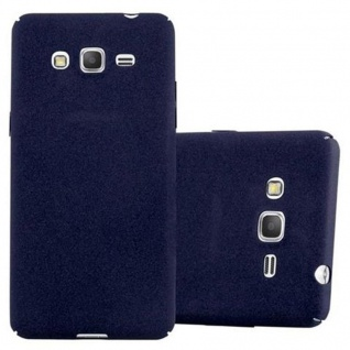 Cadorabo Hülle für Samsung Galaxy GRAND PRIME in FROSTY BLAU - Hardcase Handyhülle aus Plastik gegen Kratzer und Stöße - Schutzhülle Bumper Ultra Slim Back Case Hard Cover