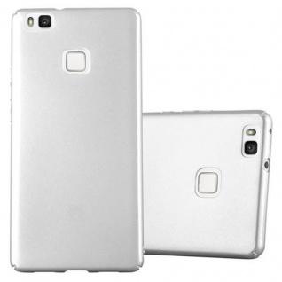 Cadorabo Hülle für Huawei P9 LITE in METALL SILBER Hardcase Handyhülle aus Plastik gegen Kratzer und Stöße Schutzhülle Bumper Ultra Slim Back Case Hard Cover