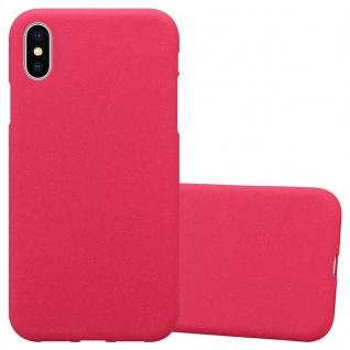 Cadorabo Hülle für Apple iPhone XS MAX in FROST ROT - Handyhülle aus flexiblem TPU Silikon - Silikonhülle Schutzhülle Ultra Slim Soft Back Cover Case Bumper