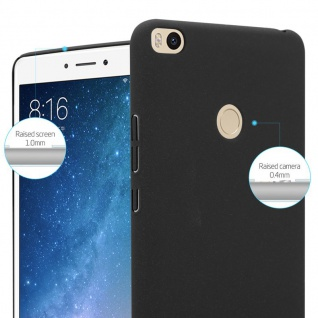 Cadorabo Hülle für Xiaomi Mi Max 2 in FROSTY SCHWARZ - Hardcase Handyhülle aus Plastik gegen Kratzer und Stöße - Schutzhülle Bumper Ultra Slim Back Case Hard Cover - Vorschau 4