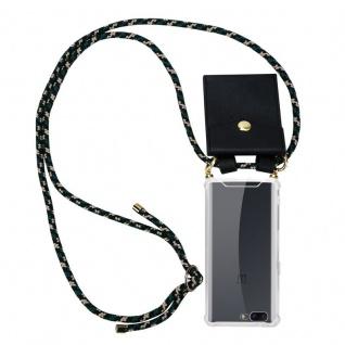 Cadorabo Handy Kette für OnePlus 5 in CAMOUFLAGE Silikon Necklace Umhänge Hülle mit Gold Ringen, Kordel Band Schnur und abnehmbarem Etui Schutzhülle