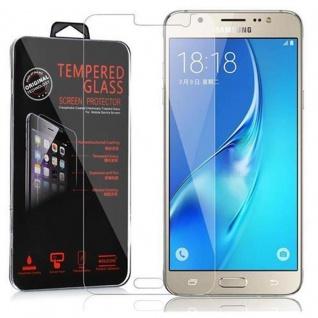 Cadorabo Panzer Folie für Samsung Galaxy J7 - Schutzfolie in KRISTALL KLAR - Gehärtetes (Tempered) Display-Schutzglas in 9H Härte mit 3D Touch Kompatibilität