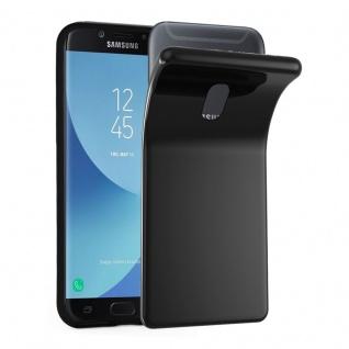 Cadorabo Hülle für Samsung Galaxy J7 2018 in SCHWARZ - Handyhülle aus flexiblem TPU Silikon - Silikonhülle Schutzhülle Ultra Slim Soft Back Cover Case Bumper