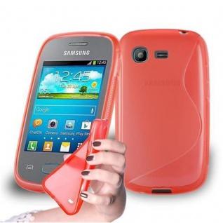 Cadorabo Hülle für Samsung Galaxy POCKET in INFERNO ROT ? Handyhülle aus flexiblem TPU Silikon ? Silikonhülle Schutzhülle Ultra Slim Soft Back Cover Case Bumper