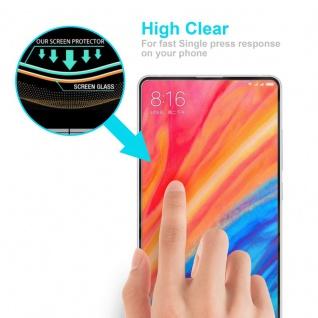 Cadorabo Vollbild Panzer Folie für Xiaomi MIX 2S - Schutzfolie in TRANSPARENT mit SCHWARZ - Gehärtetes (Tempered) Display-Schutzglas in 9H Härte mit 3D Touch Kompatibilität - Vorschau 5