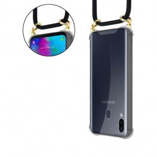 Cadorabo Handy Kette für Samsung Galaxy M20 in SCHWARZ - Silikon Necklace Umhänge Hülle mit Gold Ringen, Kordel Band Schnur und abnehmbarem Etui ? Schutzhülle - Vorschau 5