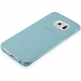 Cadorabo Hülle für Samsung Galaxy S6 EDGE in TRANSPARENT BLAU - Handyhülle aus flexiblem TPU Silikon - Silikonhülle Schutzhülle Ultra Slim Soft Back Cover Case Bumper - Vorschau 3