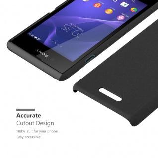 Cadorabo Hülle für Sony Xperia E3 in FROSTY SCHWARZ - Hardcase Handyhülle aus Plastik gegen Kratzer und Stöße - Schutzhülle Bumper Ultra Slim Back Case Hard Cover - Vorschau 5
