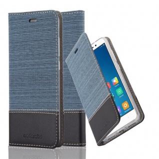 Cadorabo Hülle für Xiaomi Red Mi Note 4 in DUNKEL BLAU SCHWARZ - Handyhülle mit Magnetverschluss, Standfunktion und Kartenfach - Case Cover Schutzhülle Etui Tasche Book Klapp Style