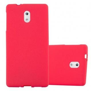 Cadorabo Hülle für Nokia 3 2017 in FROST ROT - Handyhülle aus flexiblem TPU Silikon - Silikonhülle Schutzhülle Ultra Slim Soft Back Cover Case Bumper
