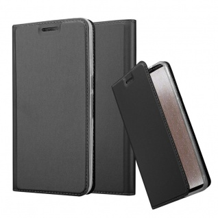 Cadorabo Hülle für Huawei NEXUS 6P in CLASSY SCHWARZ Handyhülle mit Magnetverschluss, Standfunktion und Kartenfach Case Cover Schutzhülle Etui Tasche Book Klapp Style