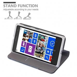 Cadorabo Hülle für Nokia Lumia 1020 in DUNKEL BLAU SCHWARZ - Handyhülle mit Magnetverschluss, Standfunktion und Kartenfach - Case Cover Schutzhülle Etui Tasche Book Klapp Style - Vorschau 4