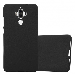 Cadorabo Hülle für Huawei MATE 9 in FROST SCHWARZ - Handyhülle aus flexiblem TPU Silikon - Silikonhülle Schutzhülle Ultra Slim Soft Back Cover Case Bumper