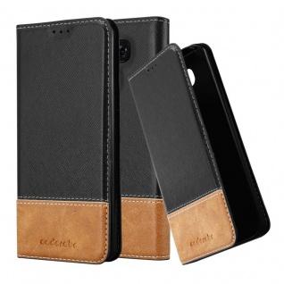Cadorabo Hülle für LG G6 in SCHWARZ BRAUN - Handyhülle mit Magnetverschluss, Standfunktion und Kartenfach - Case Cover Schutzhülle Etui Tasche Book Klapp Style