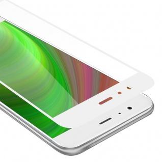 Cadorabo Vollbild Panzer Folie für Xiaomi Mi 6 - Schutzfolie in TRANSPARENT mit WEISS - Gehärtetes (Tempered) Display-Schutzglas in 9H Härte mit 3D Touch Kompatibilität