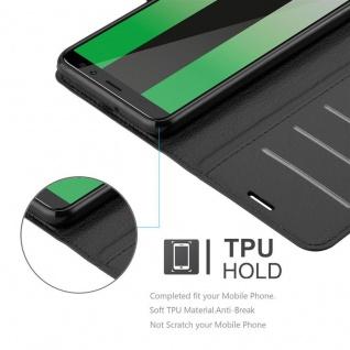 Cadorabo Hülle für Huawei MATE 10 LITE in PHANTOM SCHWARZ - Handyhülle mit Magnetverschluss, Standfunktion und Kartenfach - Case Cover Schutzhülle Etui Tasche Book Klapp Style - Vorschau 3