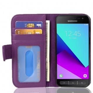 Cadorabo Hülle für Samsung Galaxy XCover 4 in BORDEAUX LILA ? Handyhülle mit Magnetverschluss und 3 Kartenfächern ? Case Cover Schutzhülle Etui Tasche Book Klapp Style
