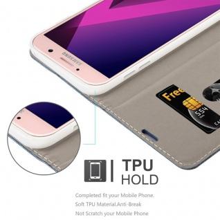 Cadorabo Hülle für Samsung Galaxy A7 2017 in DUNKEL BLAU SCHWARZ - Handyhülle mit Magnetverschluss, Standfunktion und Kartenfach - Case Cover Schutzhülle Etui Tasche Book Klapp Style - Vorschau 3