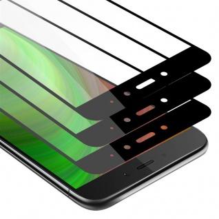 Cadorabo 3x Vollbild Panzer Folie für Xiaomi RedMi NOTE 4 - Schutzfolie in TRANSPARENT mit SCHWARZ - 3er Pack Gehärtetes (Tempered) Display-Schutzglas in 9H Härte mit 3D Touch