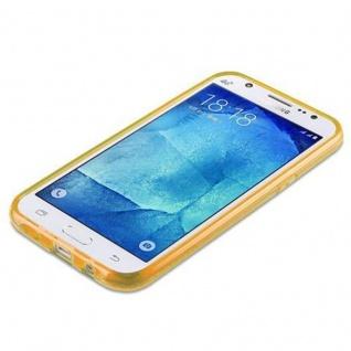Cadorabo Hülle für Samsung Galaxy J5 2015 - Hülle in STERNENSTAUB GOLD ? TPU Silikon und Hardcase Handyhülle im Glitzer Design - Hard Case TPU Silikon Schutzhülle - Vorschau 5